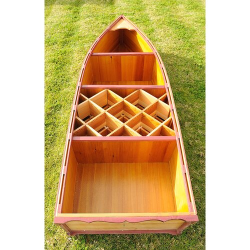 Old Modern Handicrafts Canoe 7 Bottle Wine Rack