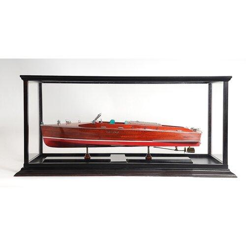 Old Modern Handicrafts Speed Boat Display Case