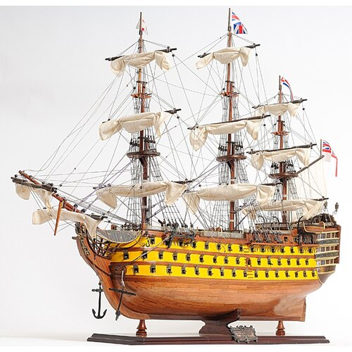 Old Modern Handicrafts HMS Victory Painted Model Ship
