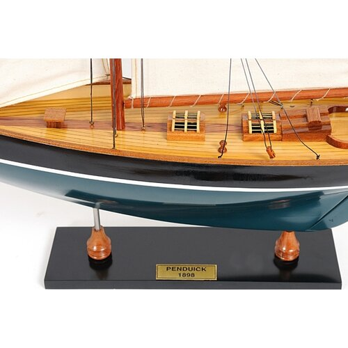 Old Modern Handicrafts Penduick Painted Model Boat