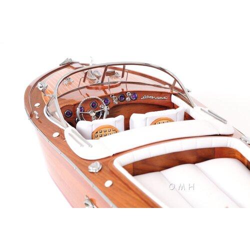 Old Modern Handicrafts Riva Aquarama Painted Bottom Model Boat