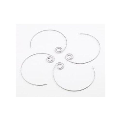 Stainless Circle Kabob Skewers (Set of 4)