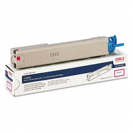 Okidata OEM Toner Cartridge, 2000 Page Yield, Magenta