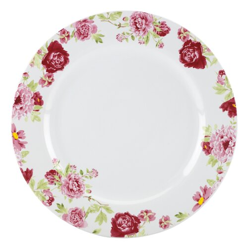 "Kathy Ireland by Gorham Blossoming Rose 11"" Dinner Plate"