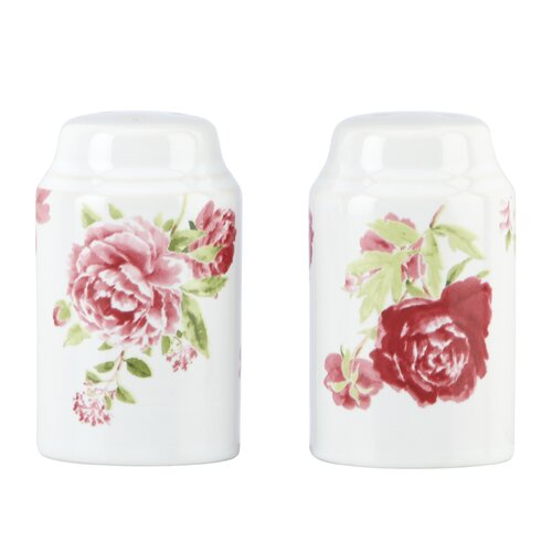 Kathy Ireland by Gorham Blossoming Rose Salt and Pepper Shaker Set