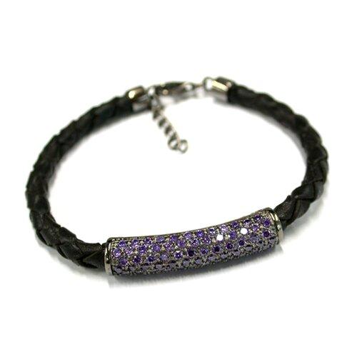 Ana Braided Black Leather Bracelet