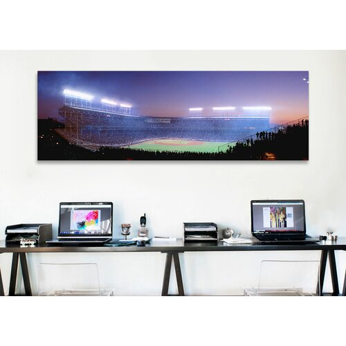 iCanvasArt Panoramic Baseball, Cubs, Chicago, Illinois Photographic Print on Canvas