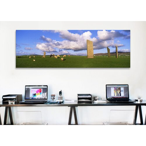 iCanvasArt Panoramic Stones of Stenness, Orkney Islands, Scotland, United Kingdom Photographic Print on Canvas
