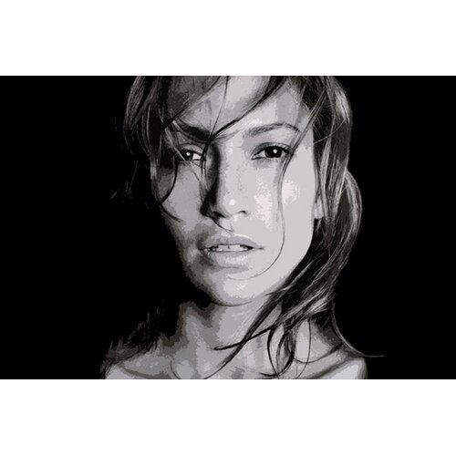 iCanvasArt Pop Art Jennifer Lopez Photographic Print on Canvas