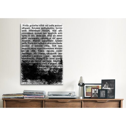 iCanvasArt Modern Burnt Passage Textual Art on Canvas