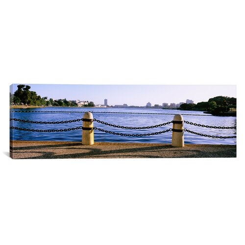 iCanvasArt Panoramic Lake in a City, Lake Merritt, Oakland, California Photographic Print on Canvas