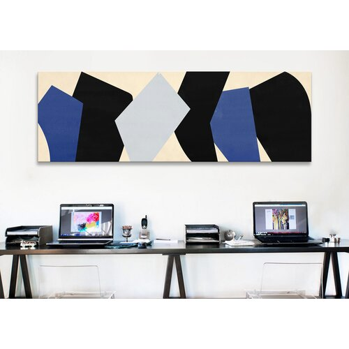 iCanvasArt Modern Art Six Chunks Graphic Art on Canvas