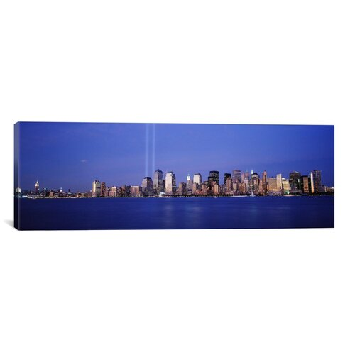 iCanvasArt Panoramic Tribute in Light, World Trade Center, Lower Manhattan, New York City, New York State Photographic Print on Canvas