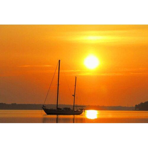 Sailing Boat Sunrise Sunrise Sail Boat Graphic