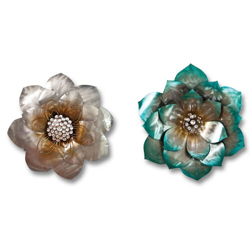 Cape Craftsmen 2 Piece Bohemian Rhapsody Flower Wall Décor Set