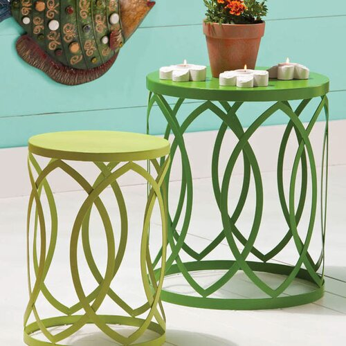 Coastal Delights Nesting Table and Stool