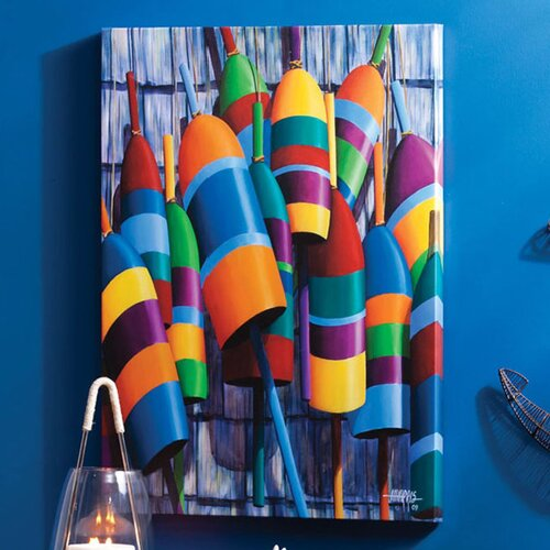 Outdoor Canvas Bouys Wall Decor