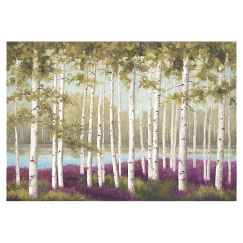 Plum Forest Floor by Jill Schultz McGannon Painting Print on Canvas