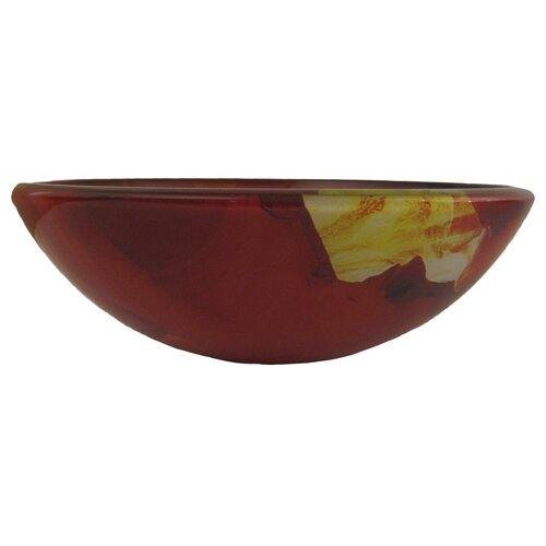 Novatto Asiatico Glass Vessel Bathroom Sink