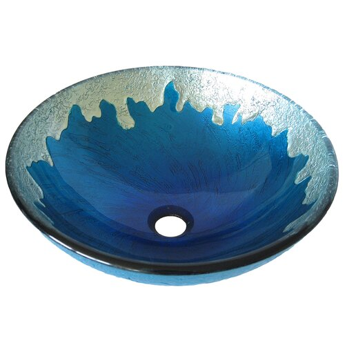 Novatto Diaccio Glass Vessel Bathroom Sink