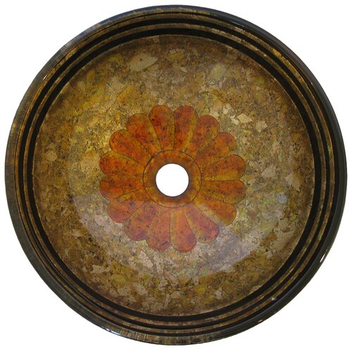 Tappezzeria Round Glass Vessel Sink