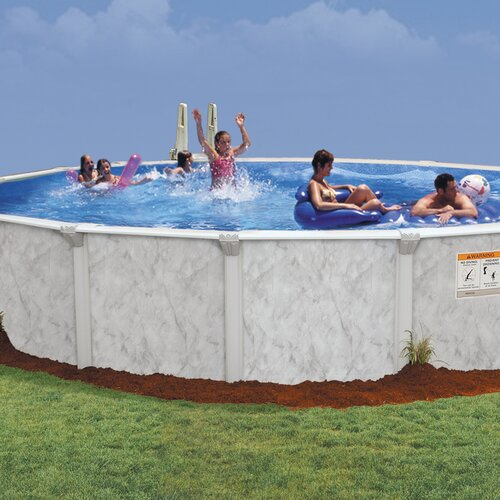 "Embassy Pools Oval 52"" Deep Oasis 102 Pool Package"