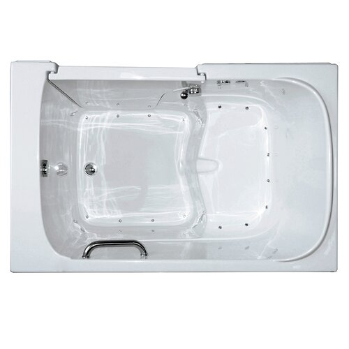 Extra wide bathtub wayfair for Wide tub
