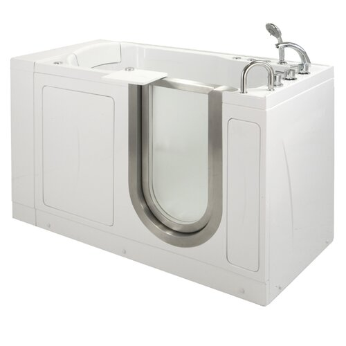 "Ella Walk In Baths 52"" x 28"" Petite Massage Walk In Tub"