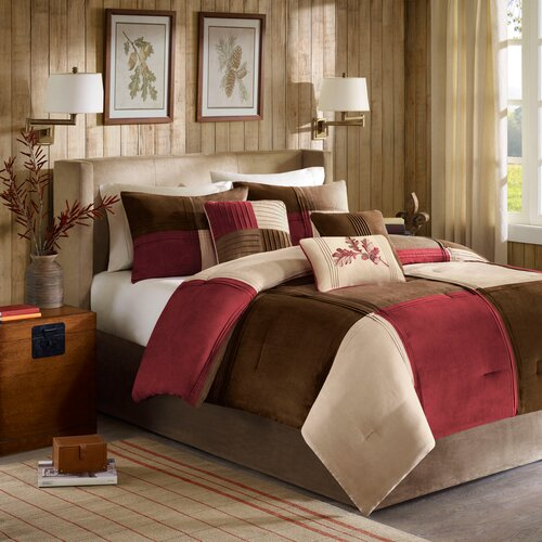 Madison Park Jackson Blocks 7 Piece Comforter Set