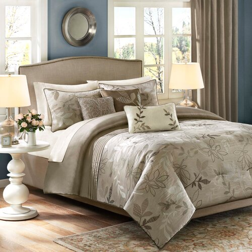Madison Park Kayle 6 Piece Jacquard Duvet Set