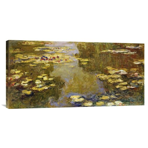 Bentley Global Arts 'The Lily Pond' by Claude Monet Painting Print on Canvas