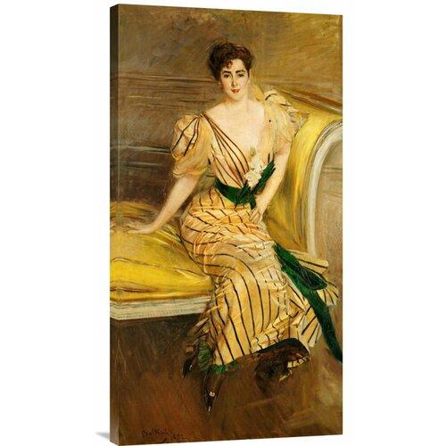 Bentley Global Arts 'Portrait of Madame Josephina Alvear De Errazuriz' by Giovanni Boldini Painting Print on Canvas