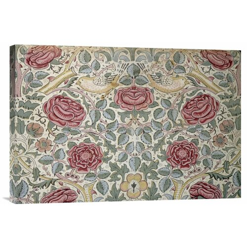 'The Rose Pattern' by William Morris Painting Print on Canvas