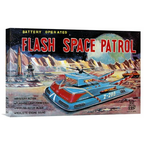 Bentley Global Arts 'Flash Space Patrol' by Retrotrans Vintage Advertisement on Canvas
