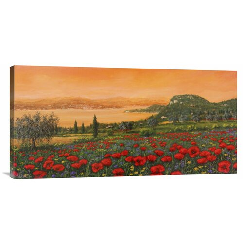 'Dalle Colline' by Tebo Marzari Painting Print on Canvas