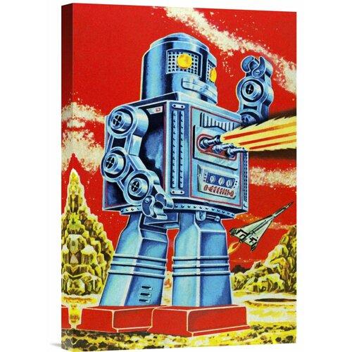 'Robo - Movido a Pilhas' by Retrobot Vintage Advertisement on Canvas