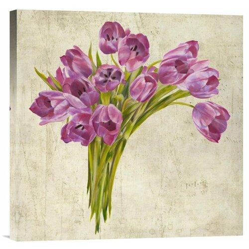 Bentley Global Arts 'Bouquet de Tulipes' by Leonardo Sanna Painting Print on Canvas