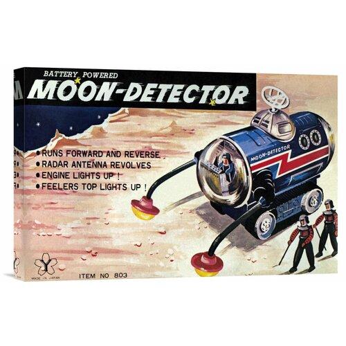 Bentley Global Arts 'Moon-Detector' by Retrotrans Vintage Advertisement on Canvas