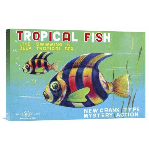 'Tropical Fish' by Retrobot Vintage Advertisement on Canvas