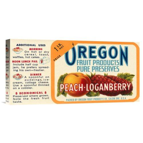 'Peach - Loganberry Preserves' by Retrolabel Vintage Advertisement on Canvas