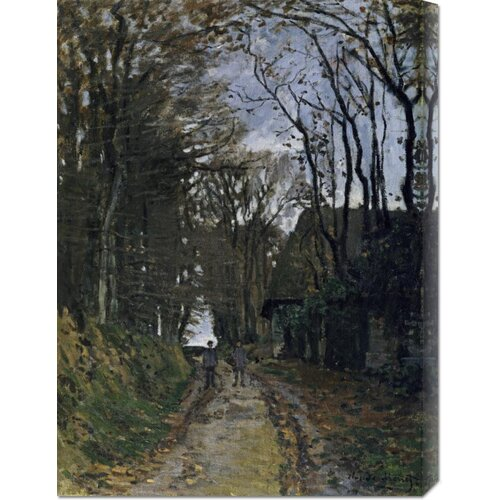 Bentley Global Arts 'A Normandy Path' by Claude Monet Painting Print on Canvas