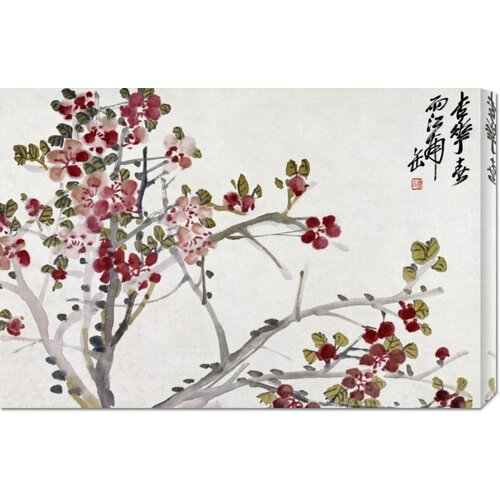'Flowers' by Wu Changshuo Painting Print on Canvas