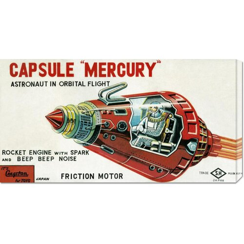 'Capsule Mercury' by Retrobot Vintage Advertisement on Canvas