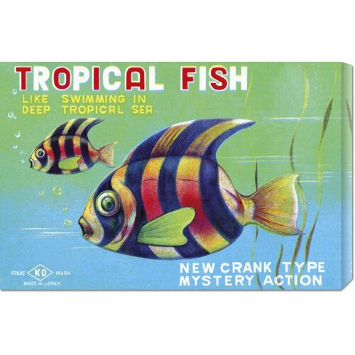 'Tropical Fish' by Retrobot Vintage Advertisement on Canvas