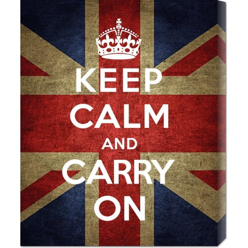 Bentley Global Arts The British Ministry of Information 'Keep Calm and Carry On - Union Jack' Graphic Art on Canvas