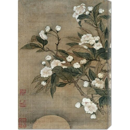 'Pear Blossom and Moon' by Yun Shouping Painting Print on Canvas