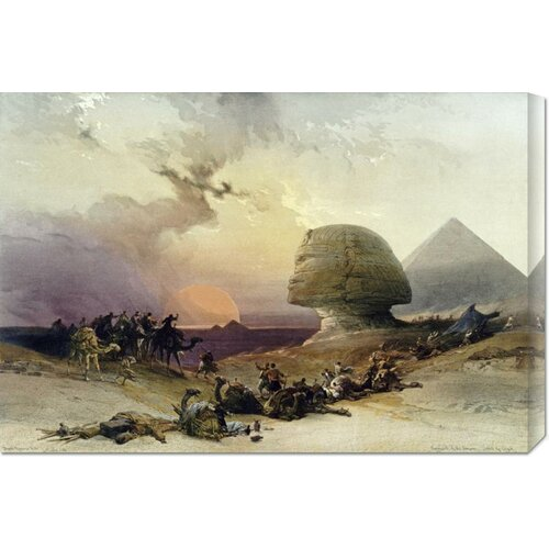 Bentley Global Arts 'Approach of The Simoom. Desert of Gizeh' by David Roberts Painting Print on Canvas