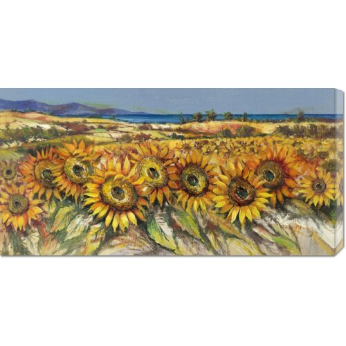 Bentley Global Arts 'Campo di Girasoli' by Luigi Florio Painting Print on Canvas