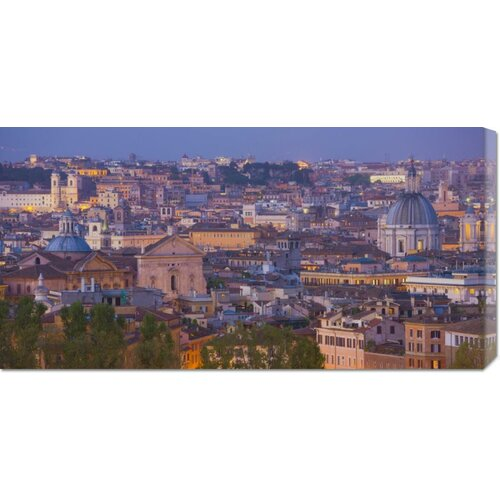 Bentley Global Arts 'View of the Historic Center of Rome at Night' by Miles Ertman Photographic Print on Canvas