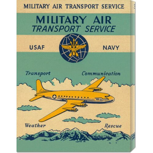 'Military Air Transport Service' by Retro Travel Vintage Advertisement on Canvas